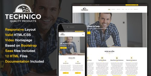 ThemeForest - Technico v1.0 - Business Site Template - 16310826