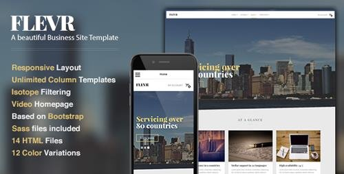 ThemeForest - Flevr v1.0 - Business Site Template - 10029661