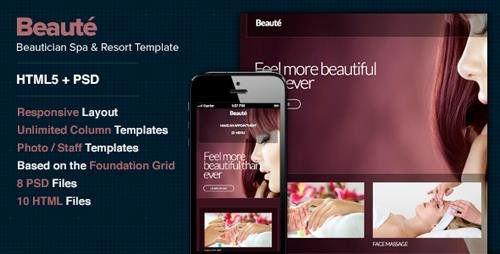 ThemeForest - Beaute - A Health & Beauty Site Template (Update: 12 November 13) - 6066619