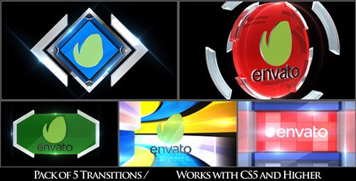 Broadcast Logo Transition Pack V3 - Project for After Effects (Videohive)