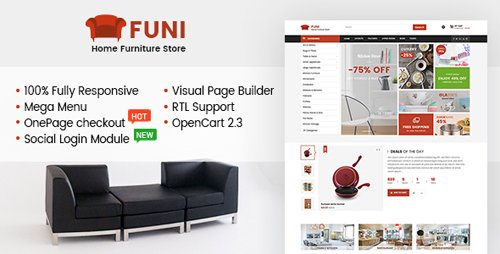 ThemeForest - Funi v1.0.0 - Drag & Drop eCommerce OpenCart 3 & 2.3 Theme (Update: 12 February 18) - 19935967