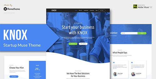 ThemeForest - KNOX v1.0 - Startup, Agency, Apps Muse Theme - 22020702