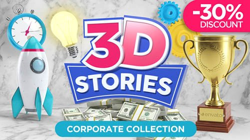 Videohive: 3D STORIES | Icons Explainer Toolkit - Project for After Effects