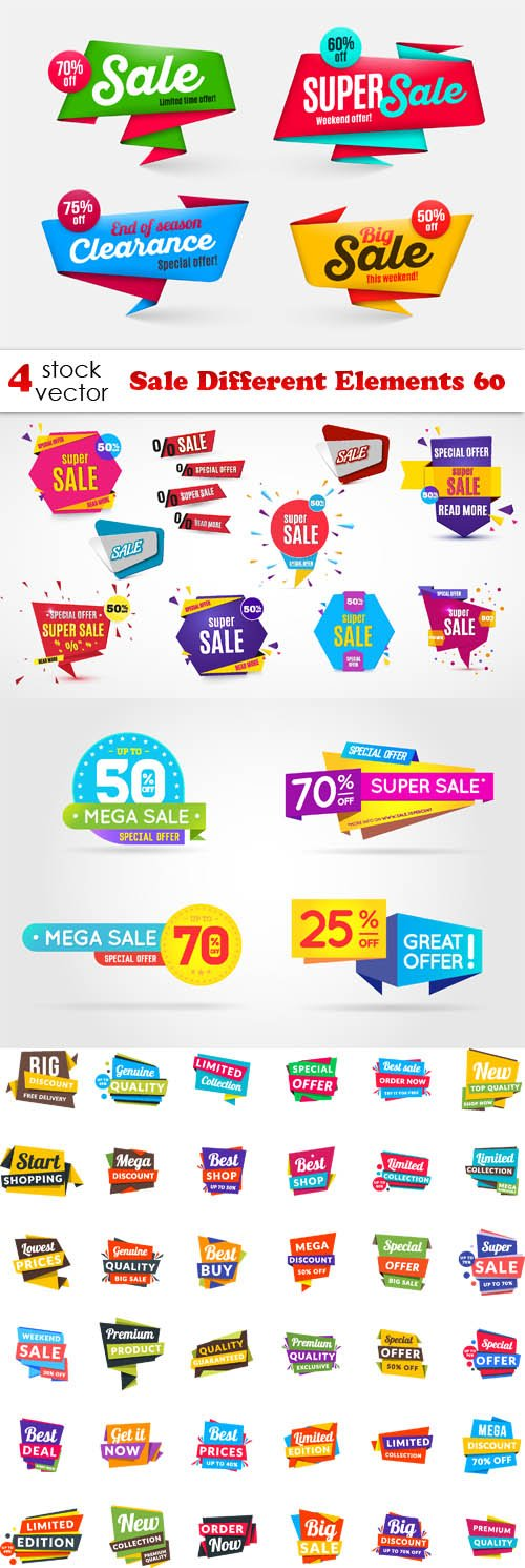 Vectors - Sale Different Elements 60
