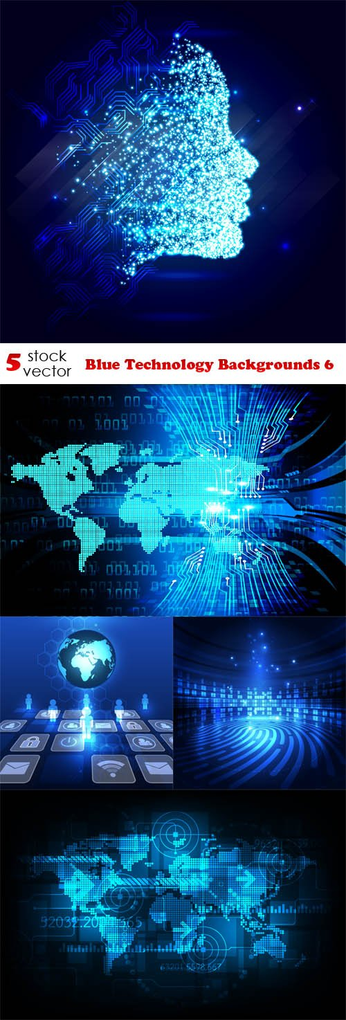 Vectors - Blue Technology Backgrounds 6