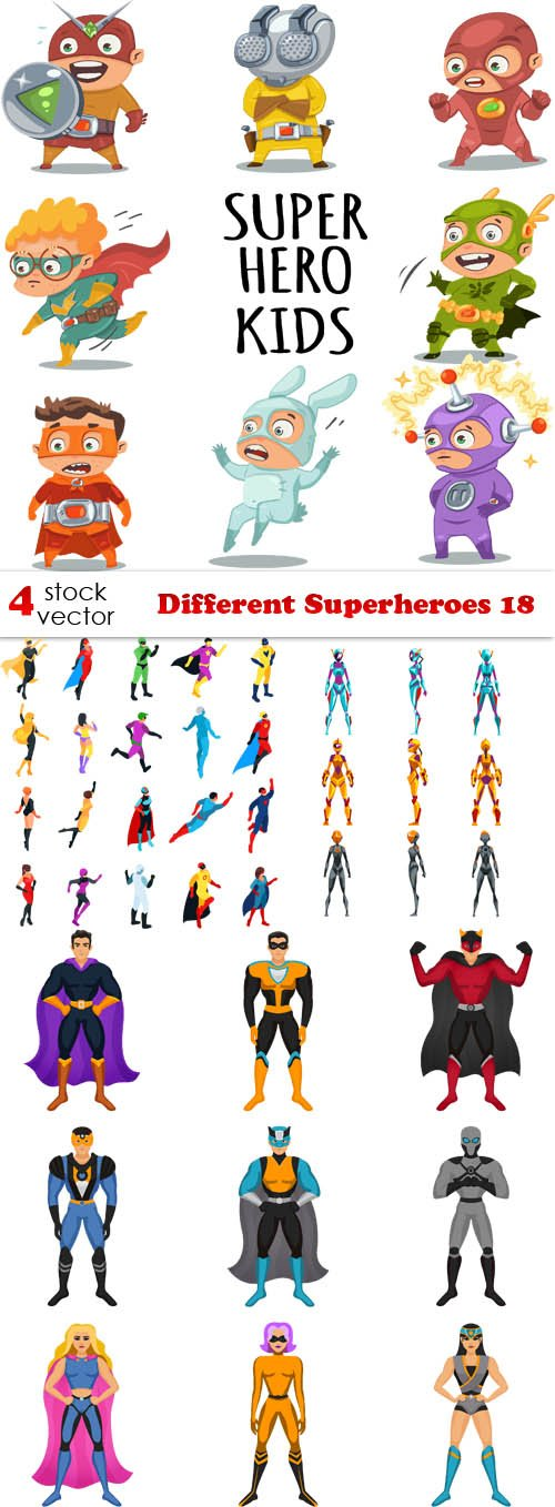 Vectors - Different Superheroes 18