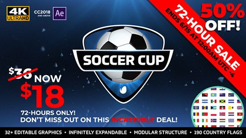 World Soccer Cup - International Soccer Package - Project for After Effects (Videohive)