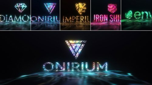 Gems & Lights - Gemstones Logo Reveal Pack - Project for After Effects (Videohive)