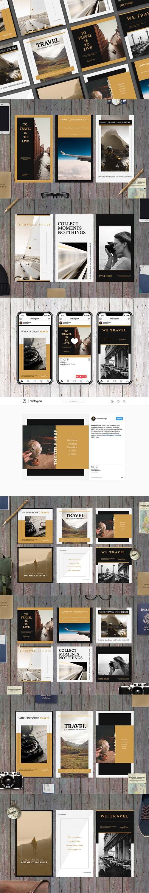 Travel Social Media Template Pack