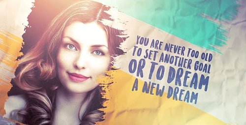 Brush Stroke slideshow Images and Quotes (2 Versions) - Project for After Effects (Videohive)
