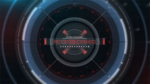 HUD Access Logo Reveal - Project for After Effects (Videohive)