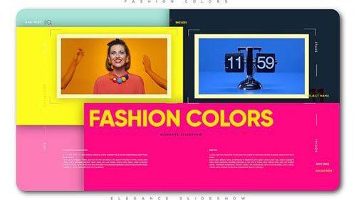 Fashion Colors Elegance Slideshow - Project for After Effects (Videohive)