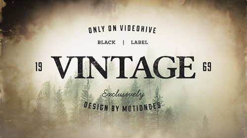 Vintage Opener 3 - Project for After Effects (Videohive)