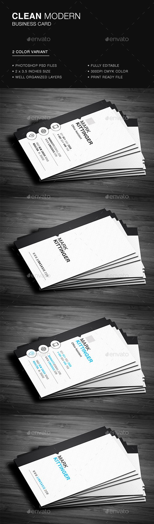 GR - Clean Vertical Business Card 22070374