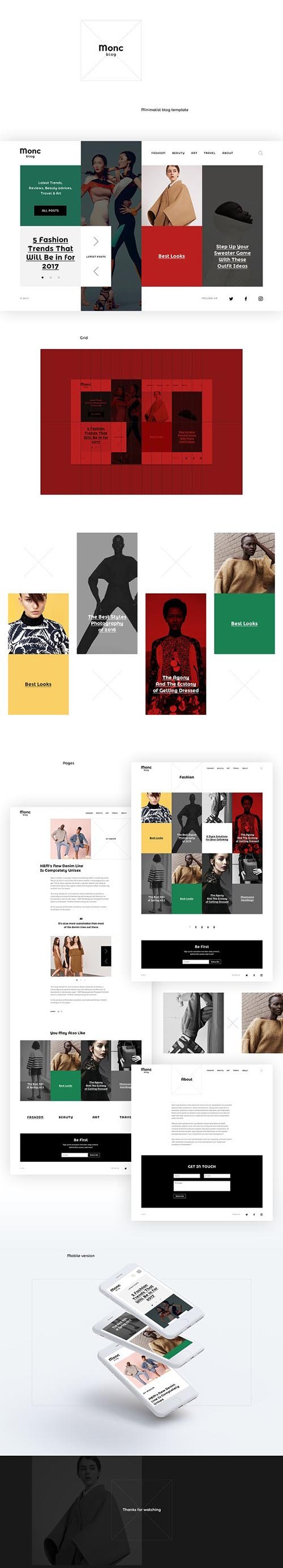PSD Monc Blog Template