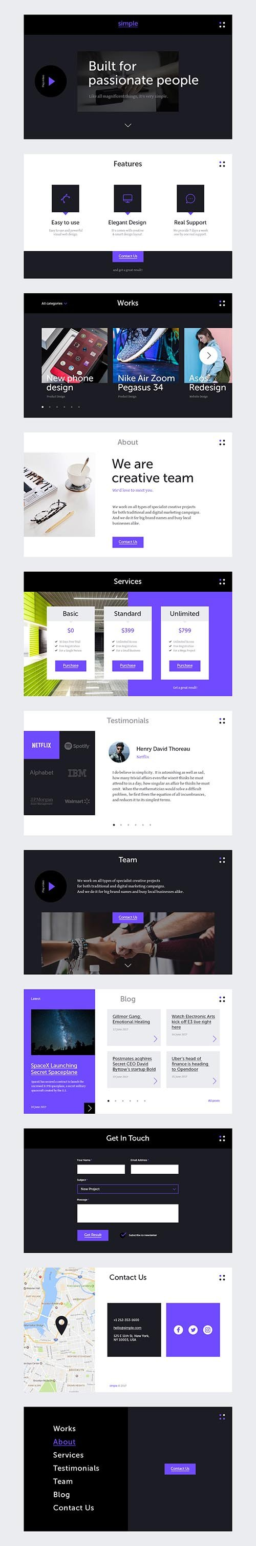 PSD Simple UI Kit
