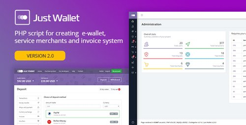 CodeCanyon - Just Wallet v2.0.4 - Online Payment Gateway - 20395877