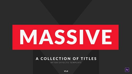 Massive | Titles Pack - Project for After Effects (Videohive)