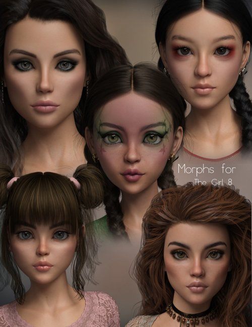 P3D The Girl 8 Morph Pack