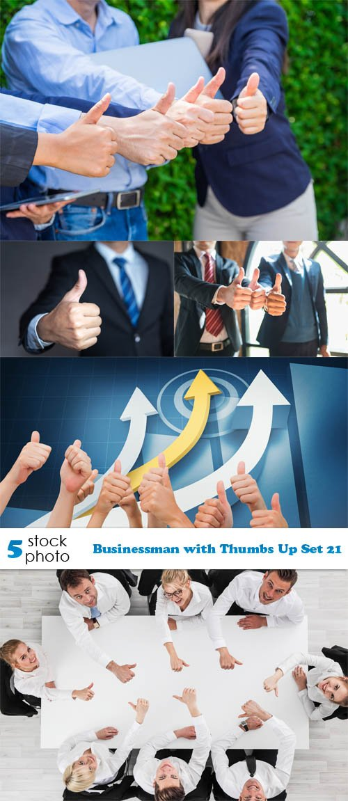 Photos - Businessman with Thumbs Up Set 21