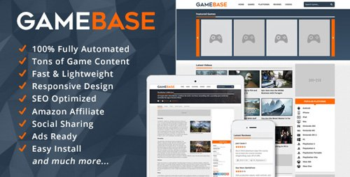 CodeCanyon - GameBase v1.5 - Video Games Database - 14197855