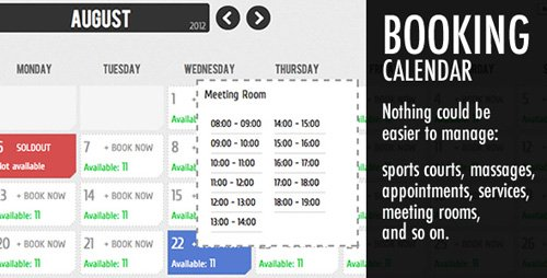 CodeCanyon - Booking Calendar v3.2 - 2684019