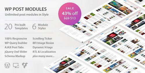 CodeCanyon - WP Post Modules v2.0.0 - WordPress Plugin for NewsPaper and Magazine Layouts - 20142309