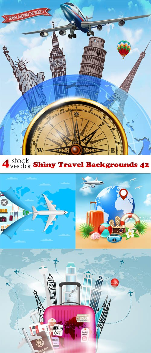 Vectors - Shiny Travel Backgrounds 42