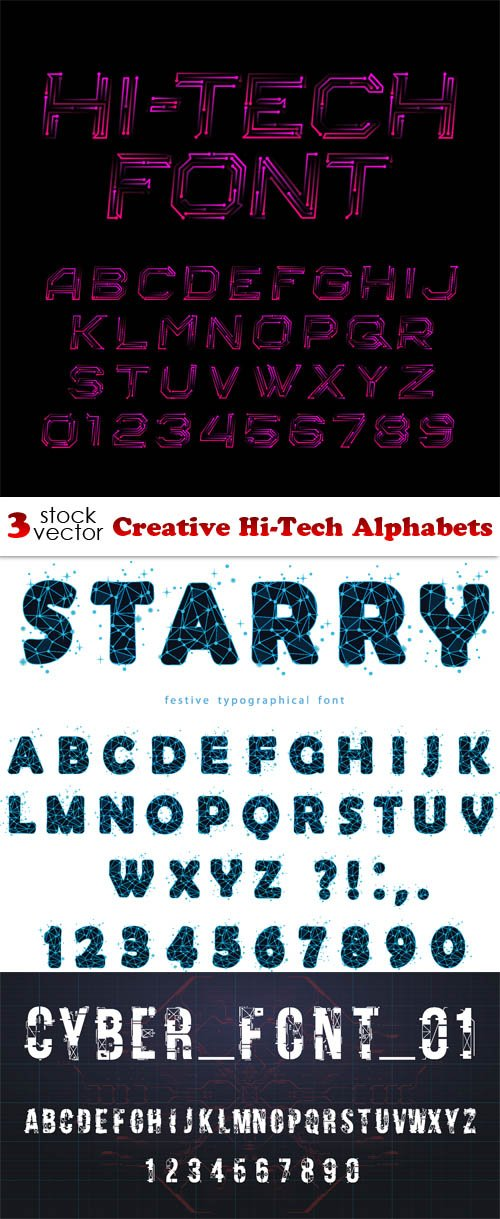 Vectors - Creative Hi-Tech Alphabets
