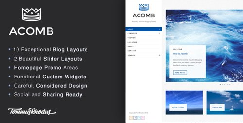 ThemeForest - Acomb v1.0.5 - Responsive Blogging WordPress Theme - 15276521