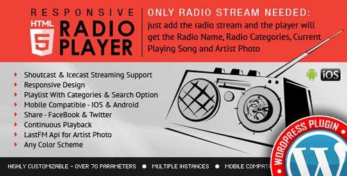 CodeCanyon - Radio Player Shoutcast & Icecast WordPress Plugin v2.1 - 9013963