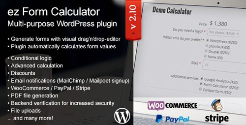CodeCanyon - ez Form Calculator v2.10.4.0 - WordPress plugin - 7595334
