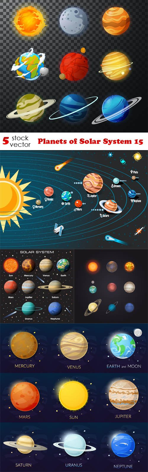 Vectors - Planets of Solar System 15