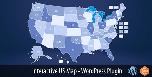 CodeCanyon - Interactive US Map v2.2.4 - WordPress Plugin - 10359489