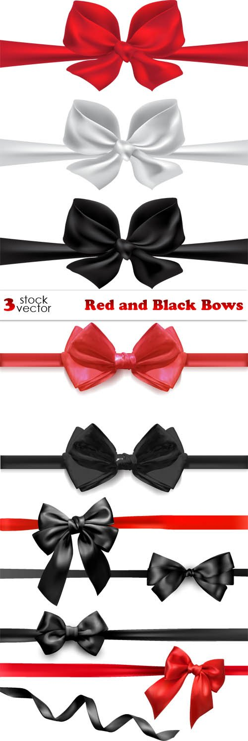 Vectors - Red and Black Bows
