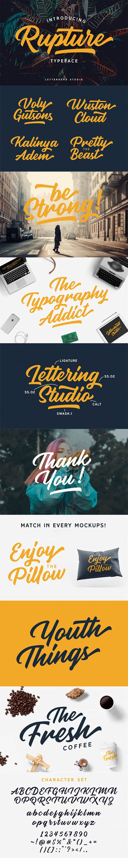 CreativeMarket - Rupture Font Duo 2602243