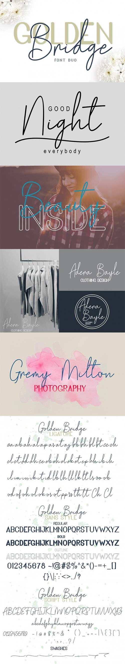 CreativeMarket - Golden Bridge Font Duo 2678294