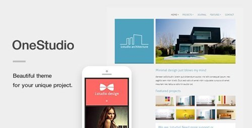 ThemeForest - OneStudio v3.1.0 - A Unique Responsive WordPress Theme - 5015013
