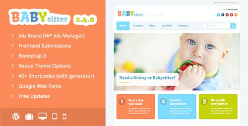 ThemeForest - Babysitter v2.4.0 - Job Board WordPress Theme - 5702597 - NULLED