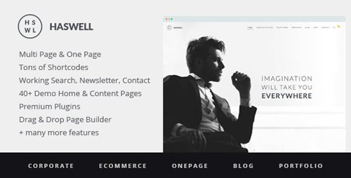 ThemeForest - Haswell v2.0.6 - Responsive, Multipurpose One & Multi Page WordPress Theme - 12785566