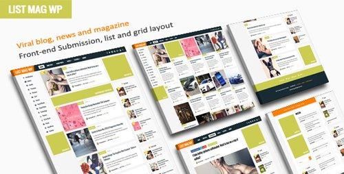ThemeForest - List Mag WP v1.9 - A Responsive WordPress Blog Theme - 18960810