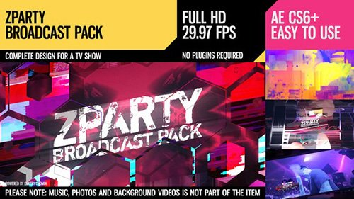 zParty (Broadcast Pack) - Project for After Effects (Videohive)