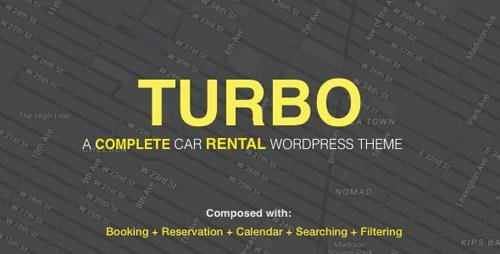 ThemeForest - Turbo v2.1.0 - Car Rental System WordPress Theme - 17156768