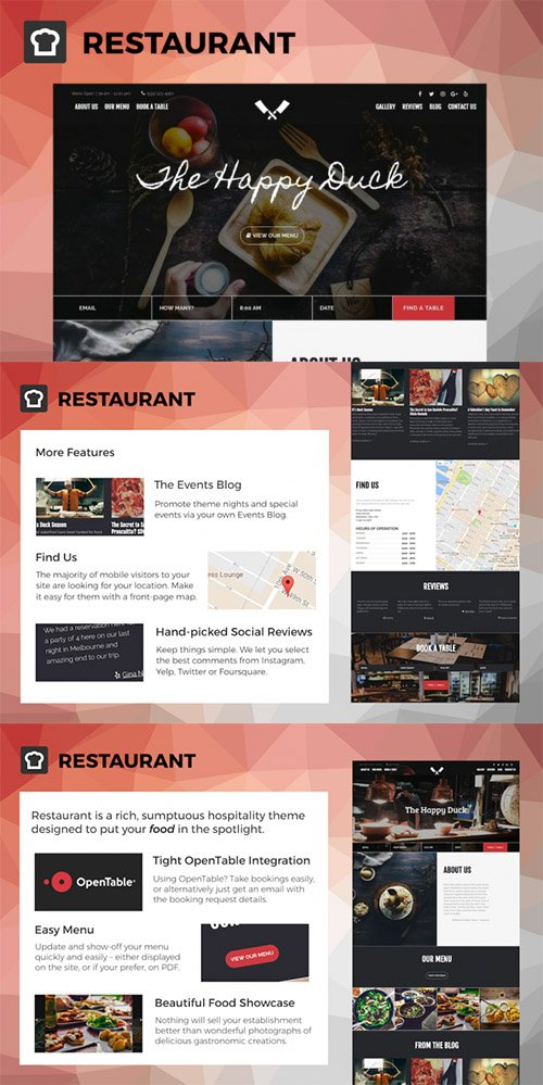 SitePoint - Restaurant v1.0 - WordPress Theme