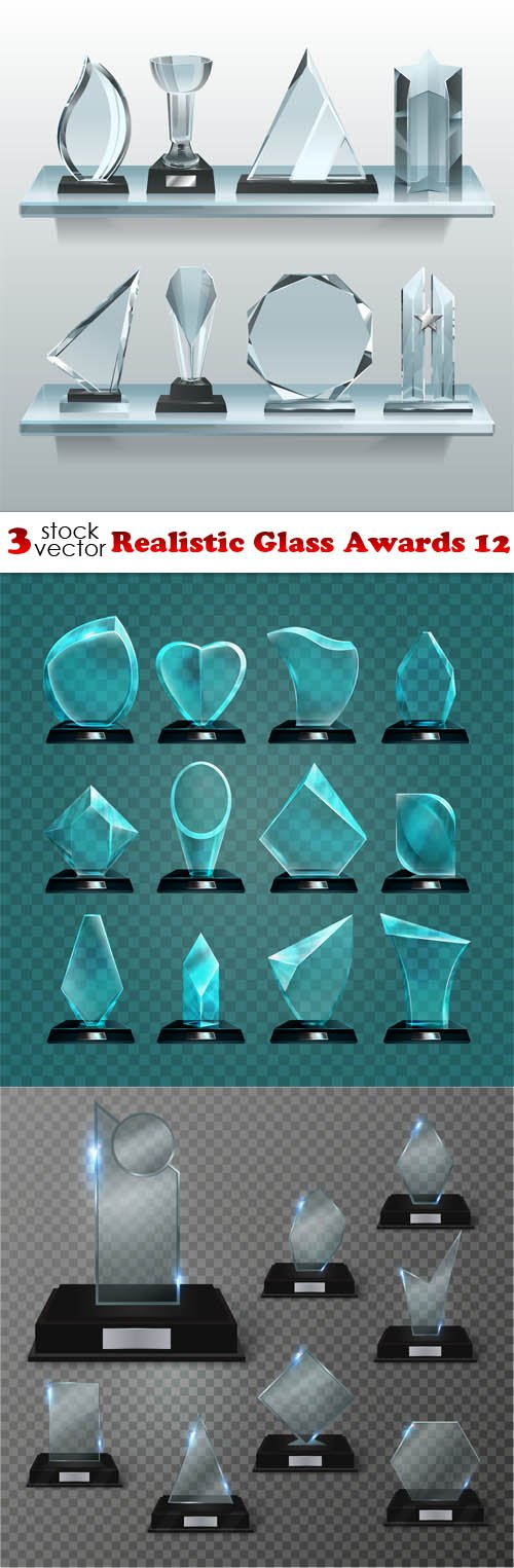 Vectors - Realistic Glass Awards 12
