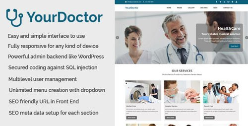 CodeCanyon - Yourdoctor v1.0 - Medical and Doctor Website CMS - 20811493