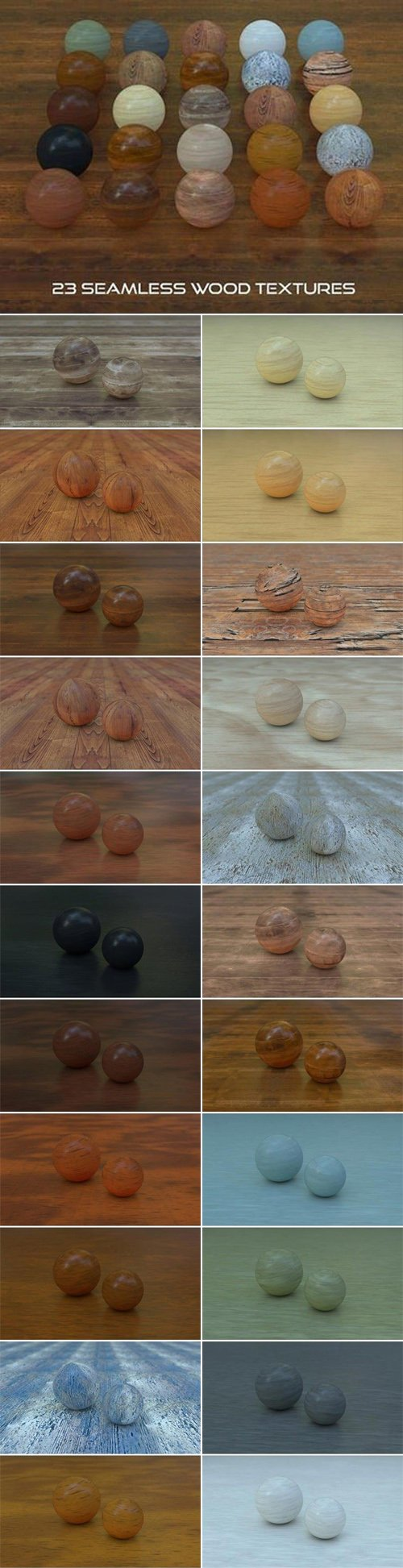 23 Seamless Wood Textures for Cinema 4D