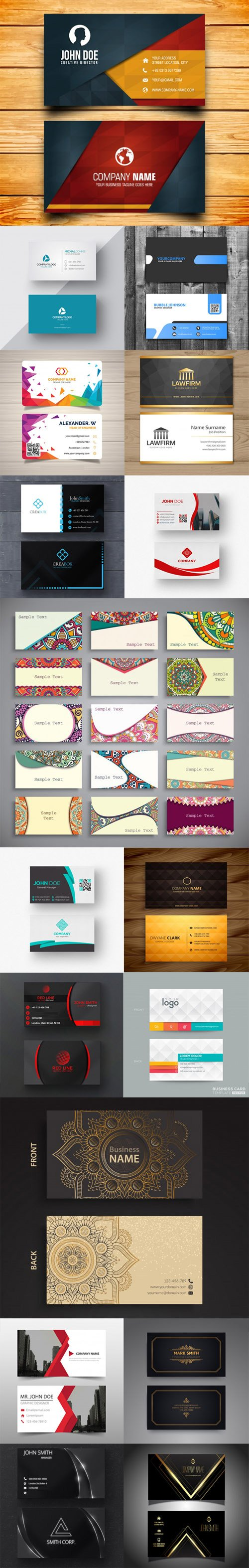 30 Modern Business Cards Collection [Ai/EPS/PSD]
