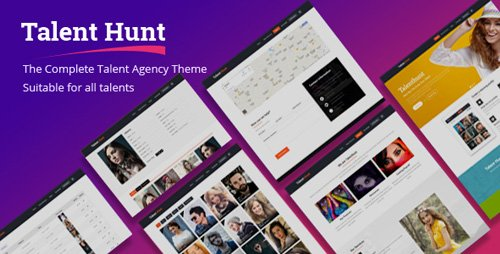 ThemeForest - Talent Hunt v1.0.5 - WordPress Theme for Model Talent Management Services - 3600987