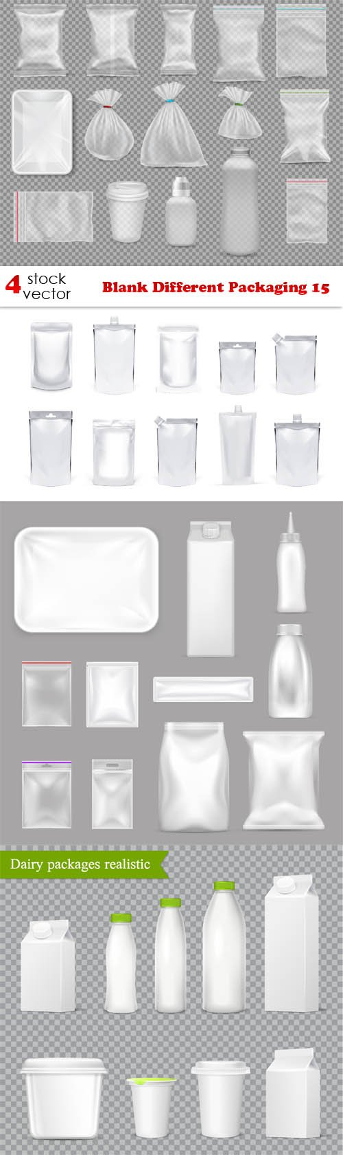 Vectors - Blank Different Packaging 15
